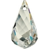Swarovski Drop 6020 Helix 37mm Silvershade Crystal